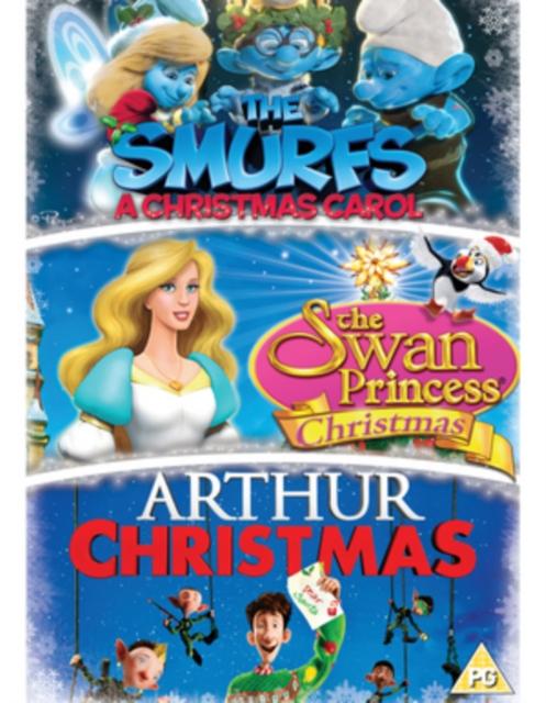 Arthur Christmas Poster.Arthur Christmas The Smurfs A Christmas Carol The Swan Uk Import Dvd