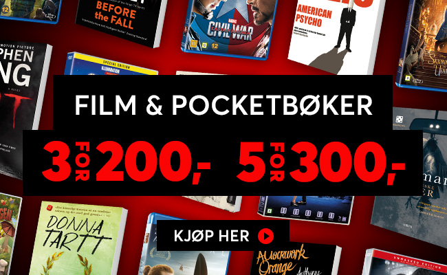 Film og pocketbøker 5 for 300,-