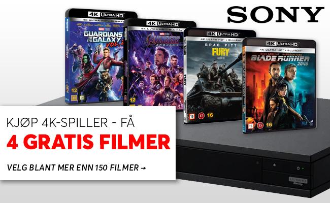 4K-spiller + 4 gratis filmer