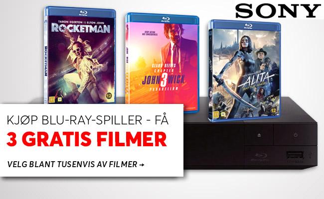 Blu-ray spiller + filmer
