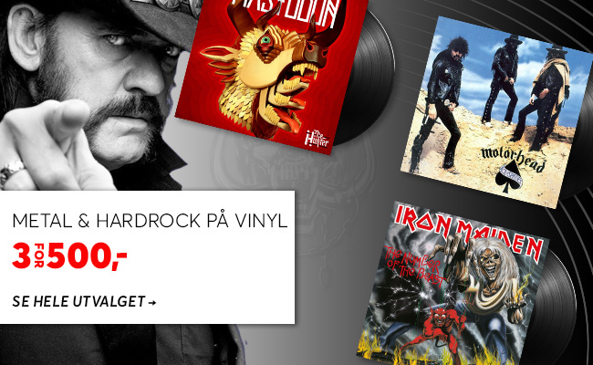 Metal og hardrock på vinyl - 3 for 500,-