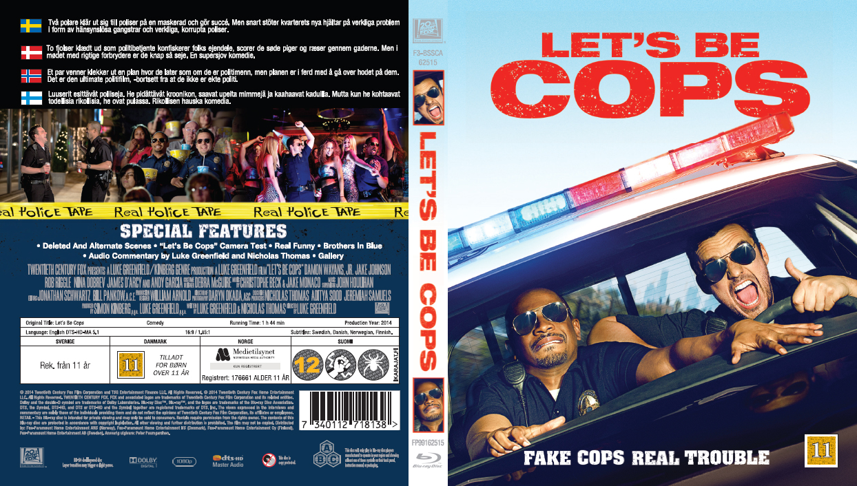 Lets be cops dvd cover