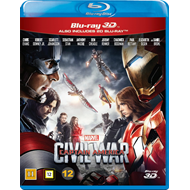 Produktbilde for Captain America 3 - Civil War (DK-import) (Blu-ray 3D + Blu-ray)