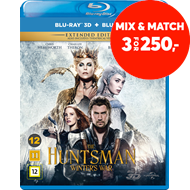 Produktbilde for The Huntsman: Winter's War - Extended Edition (DK-import) (Blu-ray 3D + Blu-ray)