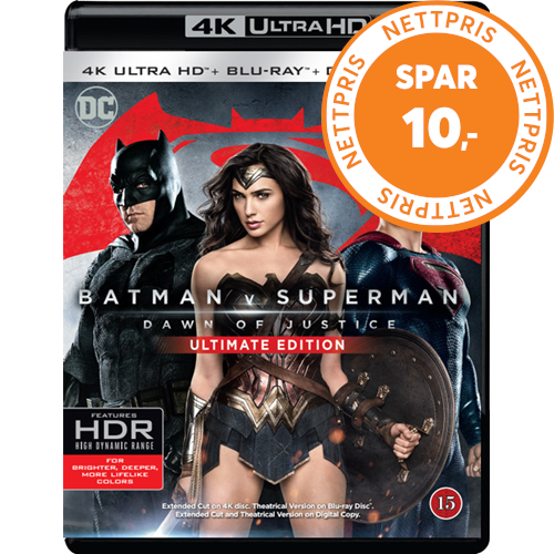 Batman v Superman: Dawn Of Justice - Ultimate Edition  (4K Ultra HD + Blu-ray)