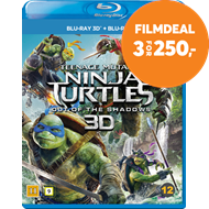 Produktbilde for Teenage Mutant Ninja Turtles: Out Of The Shadows (Blu-ray 3D + Blu-ray)