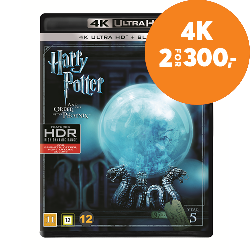 Harry Potter Og Føniksordenen (5)  (4K Ultra HD + Blu-ray)
