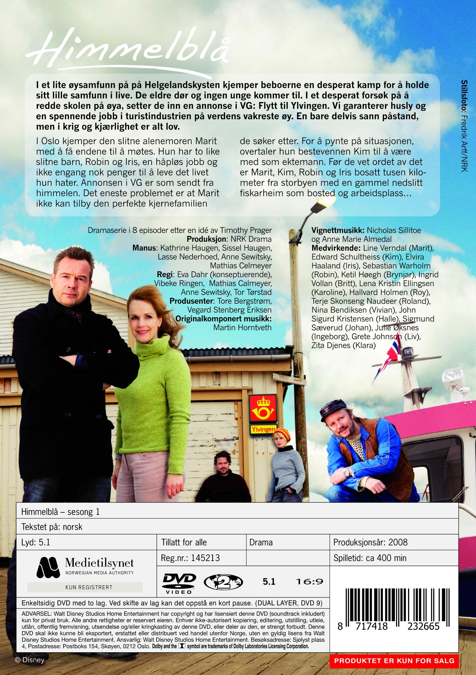 2834ba81 Himmelblå - Sesong 1 (DVD)
