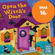Produktbilde for Open the Witch's Door - A Halloween Lift-the-Flap Book (BOK)