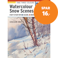 Produktbilde for Take Three Colours: Watercolour Snow Scenes - Start to Paint with 3 Colours, 3 Brushes and 9 Easy Pr (BOK)