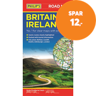 Produktbilde for Philip's Britain and Ireland Road Map (BOK)