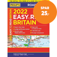 Produktbilde for 2022 Philip's Easy to Read Britain Road Atlas - (A4 Paperback) (BOK)