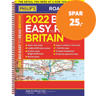 Produktbilde for 2022 Philip's Big Easy to Read Britain Road Atlas - (A3 Spiral binding) (BOK)