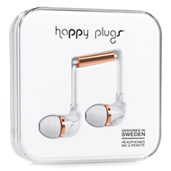 Happy Plugs - In-Ear White Carrara Marble (HEADSET)