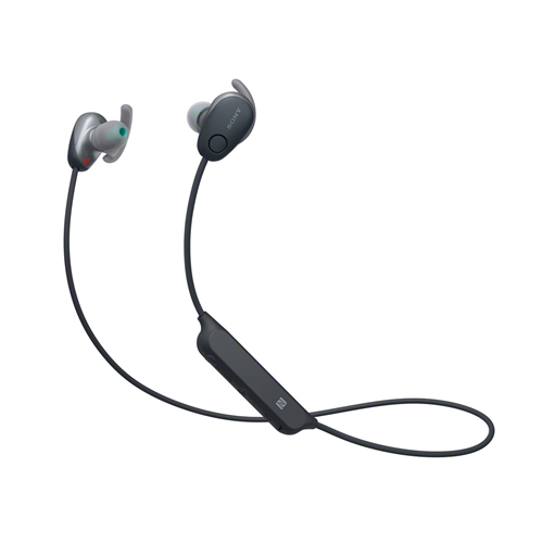 Sony WI-SP600 Wireless Noise Cancelling Sports Headphones - Black (HEADSET)