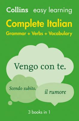 Easy Learning Italian Complete Grammar, Verbs and Vocabulary (BOK)