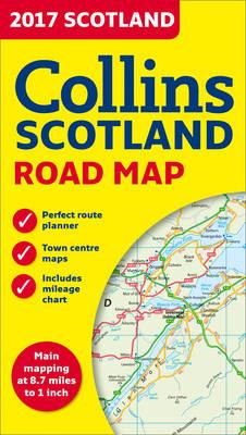 2017 Collins Map Of Scotland �New Edition] (BOK)