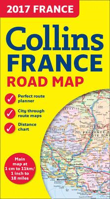 2017 Collins Map of France (BOK)