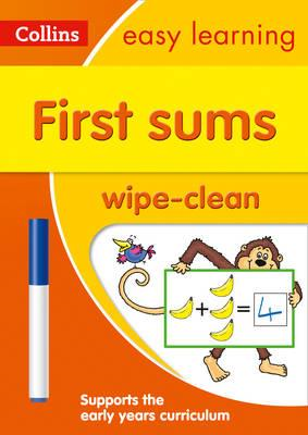 First Sums Age 3-5 Wipe Clean Activity Book (BOK)