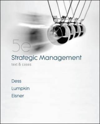 Strategic Management: Text and Cases (BOK)