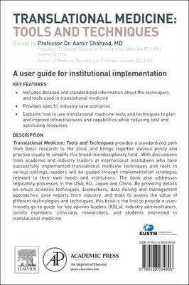 Translational Medicine: Tools And Techniques (BOK)