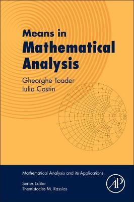 Means in Mathematical Analysis (BOK)