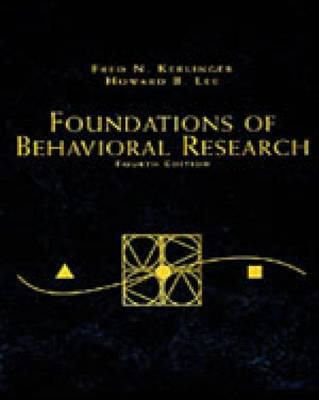 Foundations of Behavioral Research (BOK)
