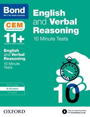 Bond 11+: English & Verbal Reasoning: CEM 10 Minute Tests (BOK)
