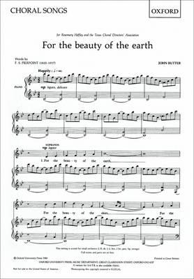 For the beauty of the earth (BOK)