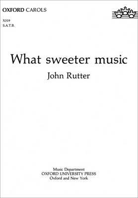 What sweeter music (BOK)