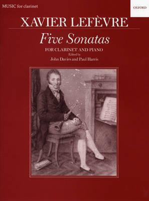Five Sonatas: For Clarinet and Piano (BOK)