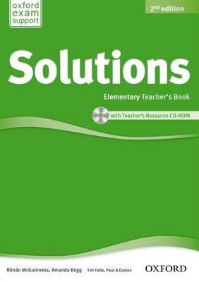 Solutions: Elementary: Teacher's Book and CD-ROM Pack (BOK)