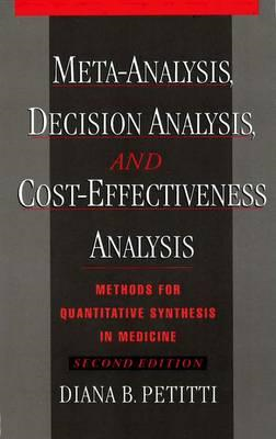 Meta-Analysis, Decision Analysis, and Cost-Effectiveness Ana (BOK)