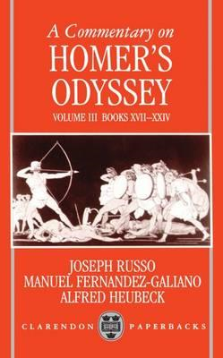 Commentary on Homer's Odyssey: Volume III: Books XVII-XXIV (BOK)