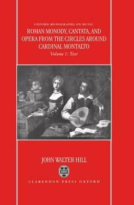 Roman Monody, Cantata and Opera from the Circles Around Card (BOK)