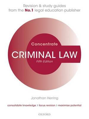 Criminal Law Concentrate (BOK)