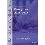 Blackstone's Statutes on Family Law 2016-2017 (BOK)