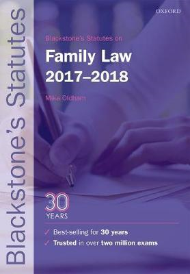 Blackstone's Statutes on Family Law 2017-2018 (BOK)