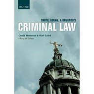 Smith, Hogan, & Ormerod's Criminal Law (BOK)