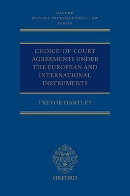 Choice-of-court Agreements Under the European and Internatio (BOK)