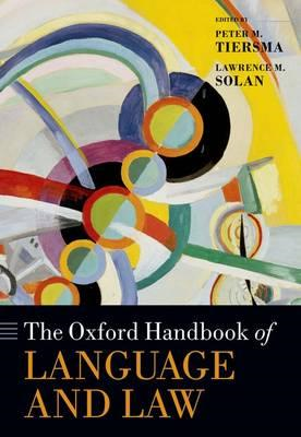 The Oxford Handbook of Language and Law (BOK)