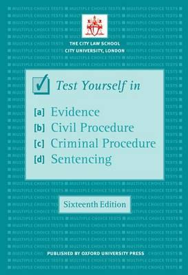 Test Yourself in Evidence, Civil Procedure, Criminal Procedu (BOK)