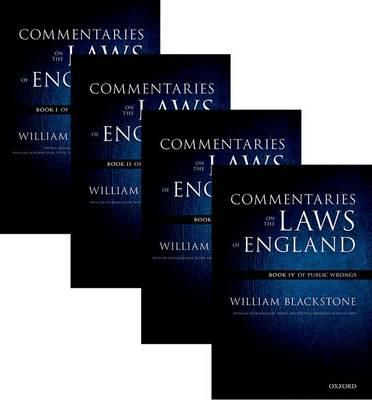 Oxford Edition of Blackstone's: Commentaries on the Laws of (BOK)