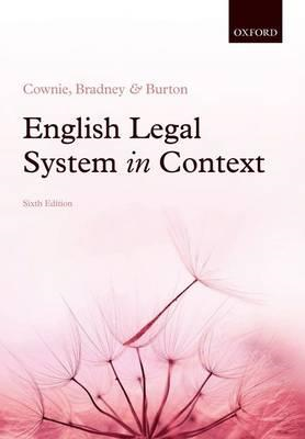 English Legal System in Context 6e (BOK)