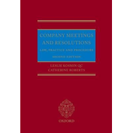 Company Meetings and Resolutions: Law, Practice, and Procedure (BOK)