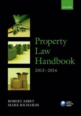 Property Law Handbook: 2013-2014 (BOK)