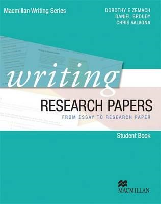 Writing Research Papers - from Essay to Research Paper (BOK)
