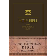 NIV, Single-Column Bible, Large Print, Hardcover, Brown (BOK)