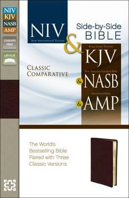 Classic Comparative Side-By-Side Bible-NIV/KJV/NASB/Am (BOK)