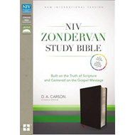 NIV Zondervan Study Bible, Bonded Leather, Black (BOK)